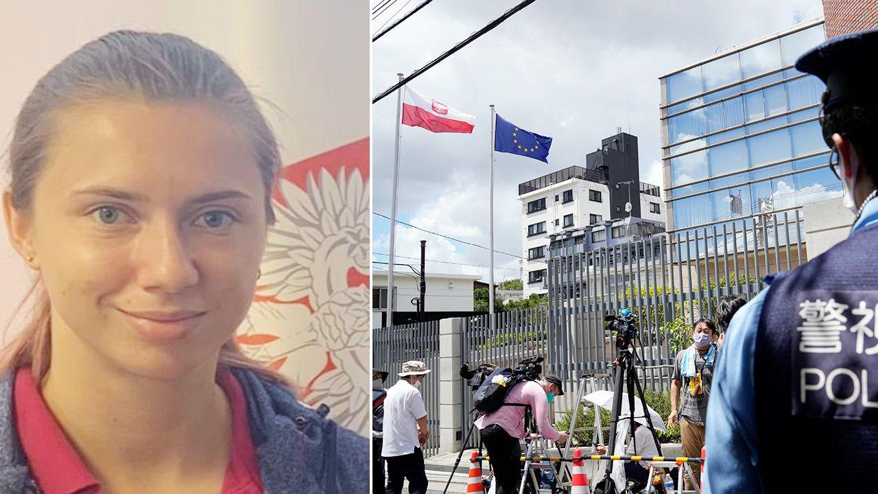Cimanouska otrzymała wizę humanitarną w Polsce (fot. PAP/EPA/FRANCK ROBICHON; TT/Paweł Milewski)