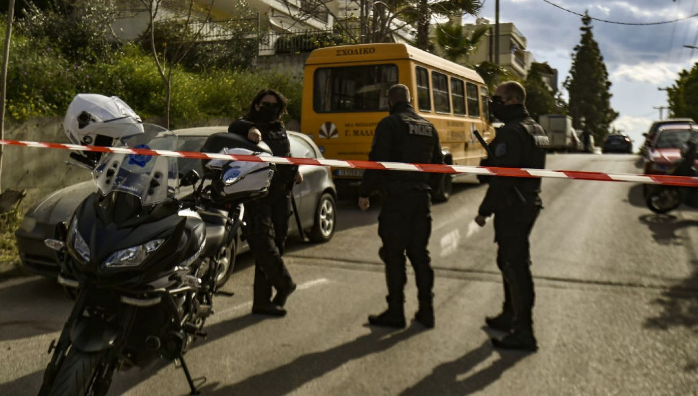Zabezpieczono teren domu zamordowanego dziennikarza w Grecji (fot. Dimitris Lampropoulos/Anadolu Agency via Getty Images)