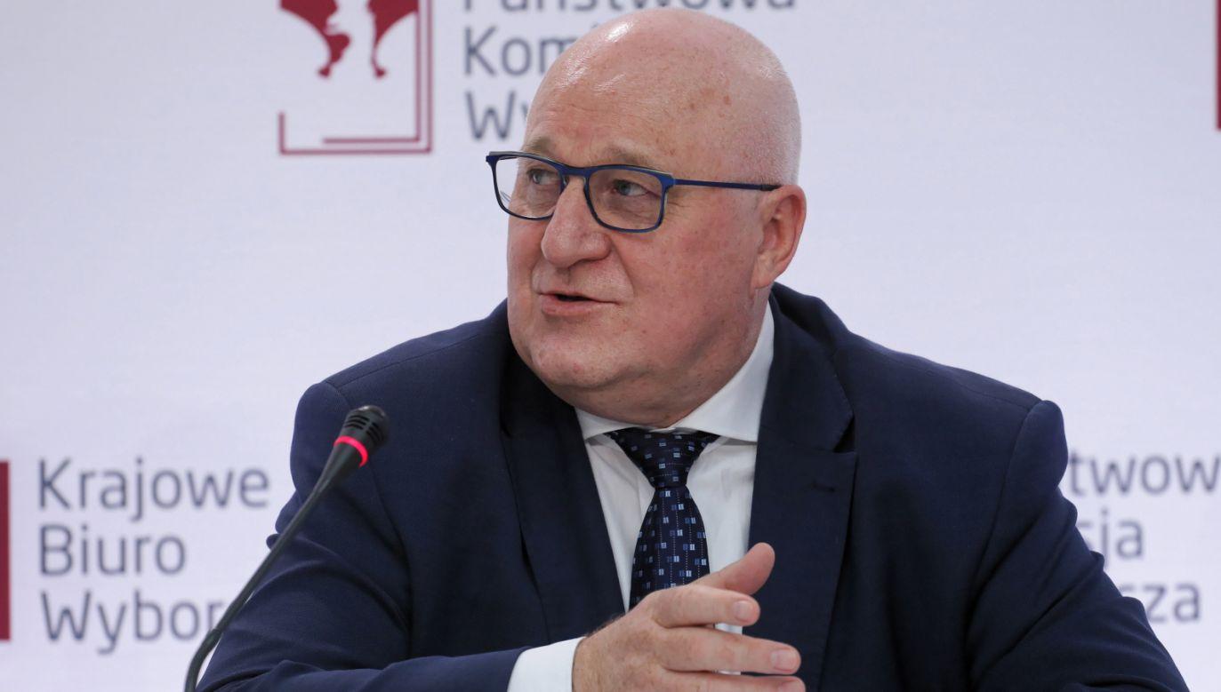 Przewodniczący Państwowej Komisji Wyborczej Sylwester Marciniak (fot. PAP/Paweł Supernak)