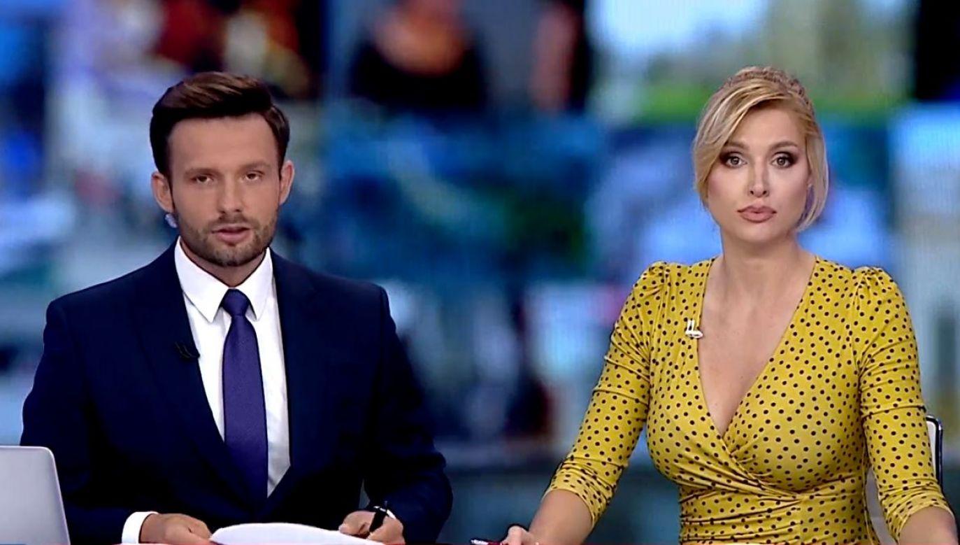 Prezenterka stała się obiektem drwin z jej wyglądu (fot. TVP Info)