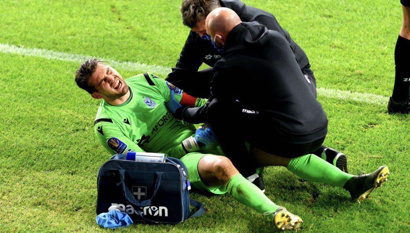 Mickey van der Hart nie zagra przez sześć tygodni (fot. PAP/Jakub Kaczmarczyk)