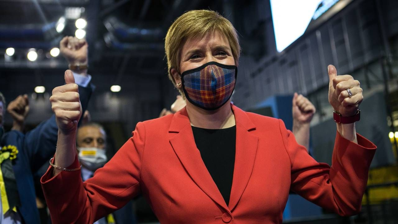 Pierwsza premier Szkocji i liderka SNP Nicola Sturgeon (fot. PAP/EPA/ROBERT PERRY)