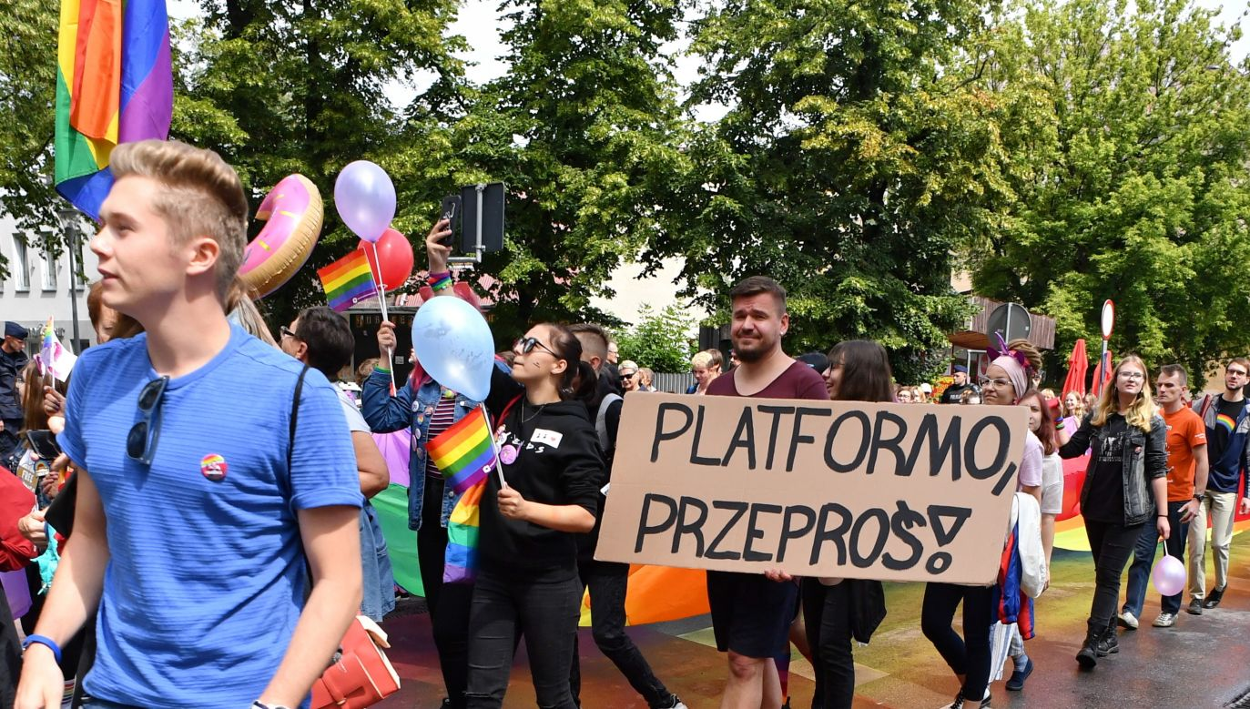 Marsz Równości w Kielcach (fot. PAP/Piotr Polak)