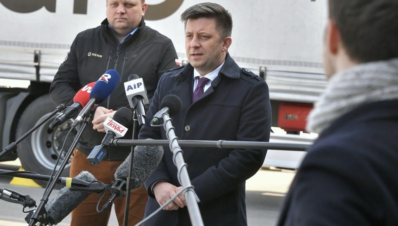 Szef KPRM Michał Dworczyk (fot. PAP/Andrzej Lange)