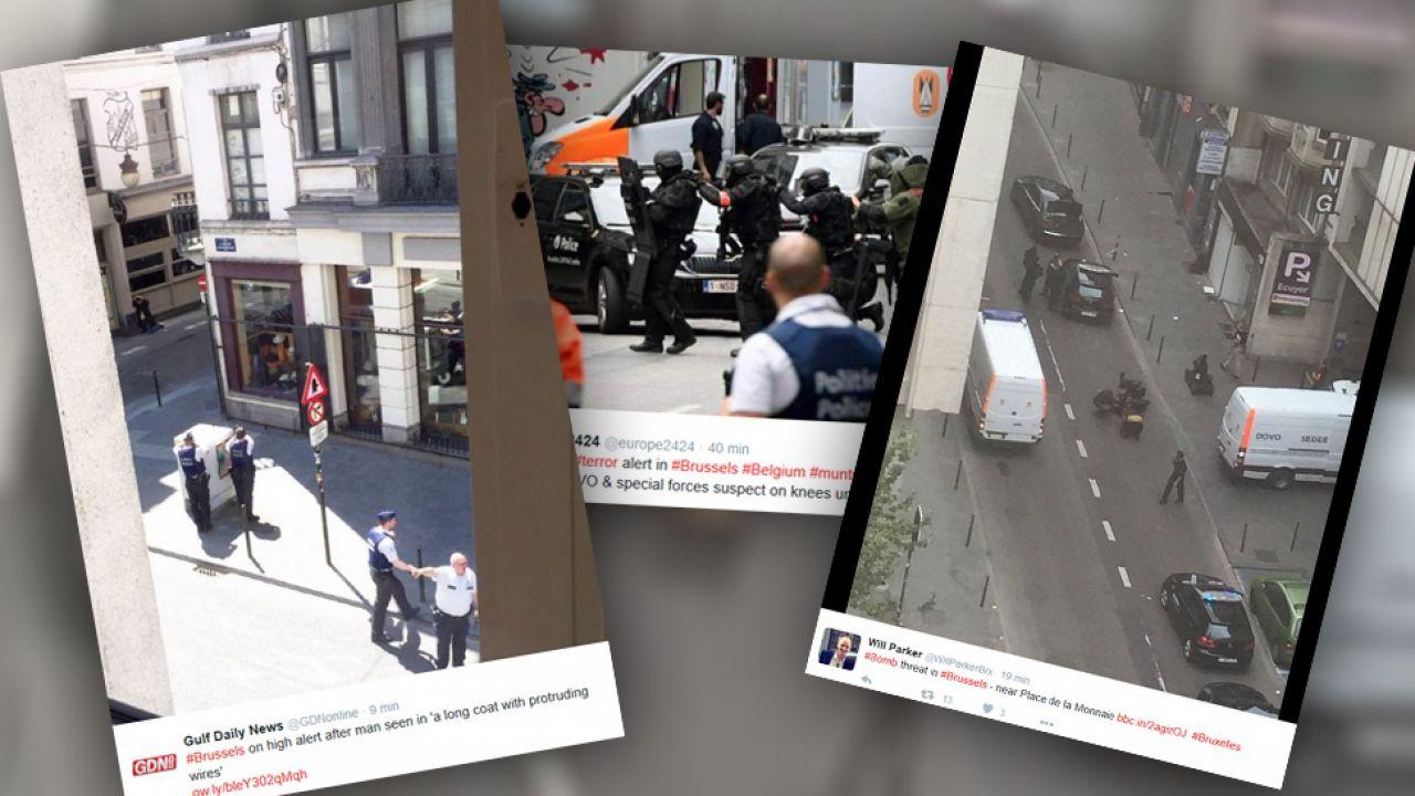 W centrum Brukseli trwa akcja antyterrorystyczna (fot.twitter.com)