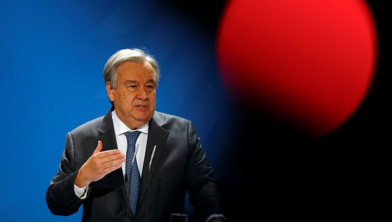 Guterres ma nadzieję, że porozumienie stworzy izraelskim i palestyńskim przywódcom okazję do ponownego zaangażowania w negocjacje ( fot. Reuters/Fabrizio Bensch)