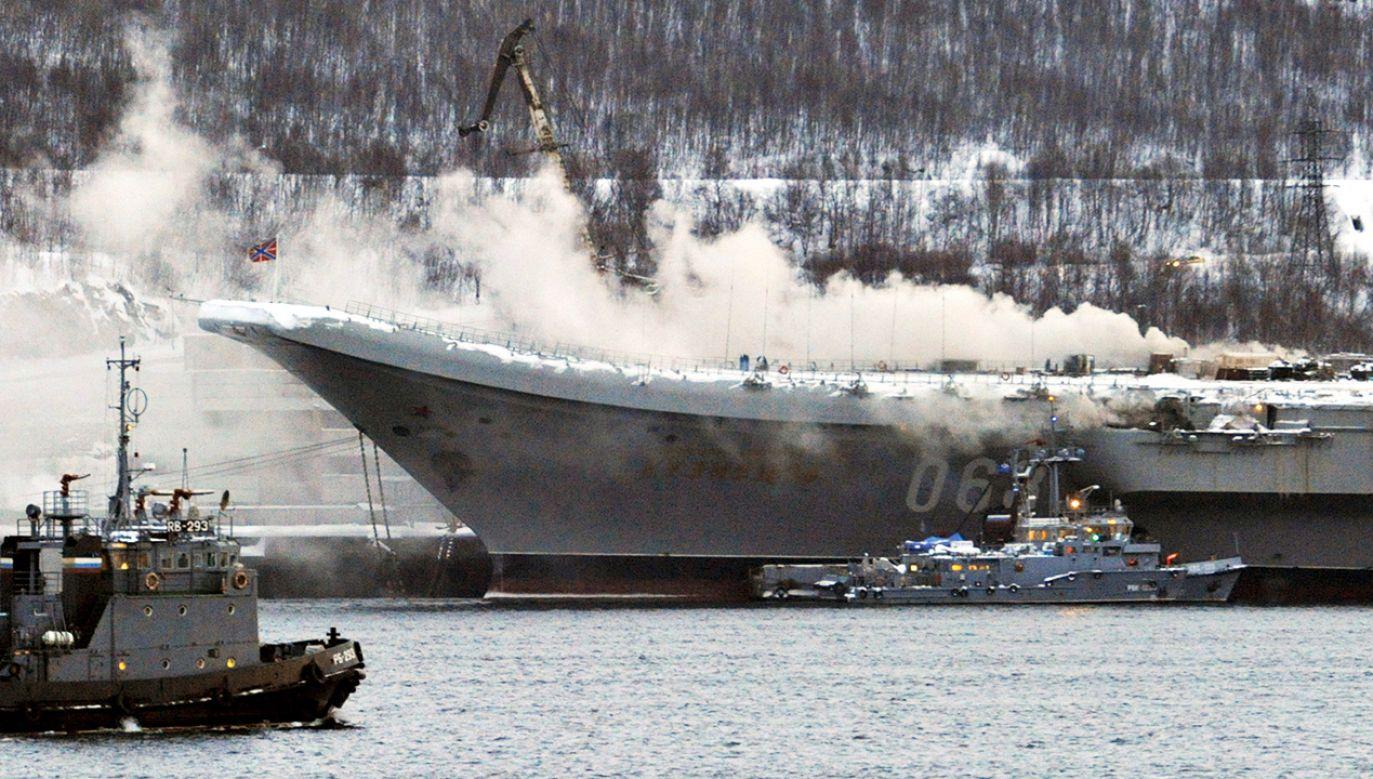 Pożar wybuchł w trakcie prac remontowych (fot. Lev Fedoseyev\TASS via Getty Images)