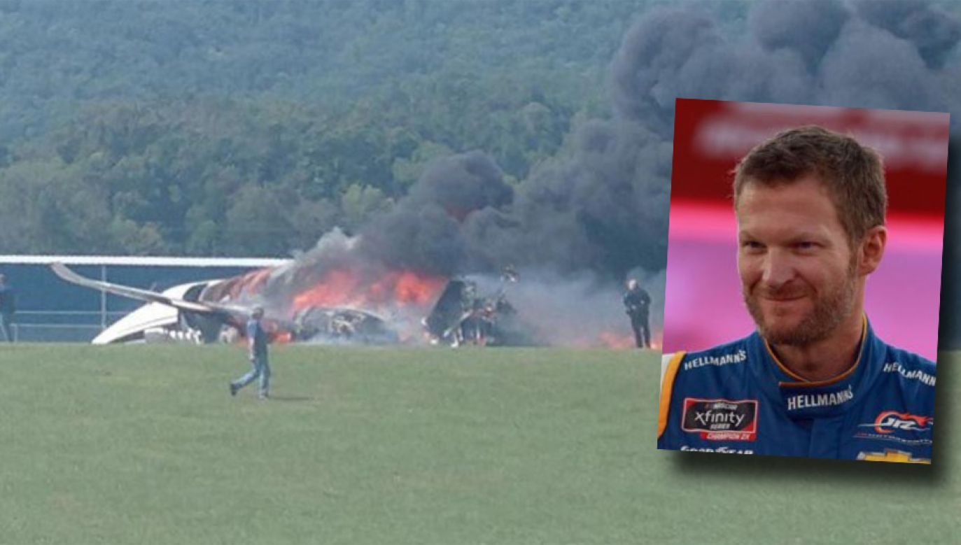 Dale Earnhardt Jr i jego rodzina odnieśli niegroźne obrażenia (fot. TT/Just Now)