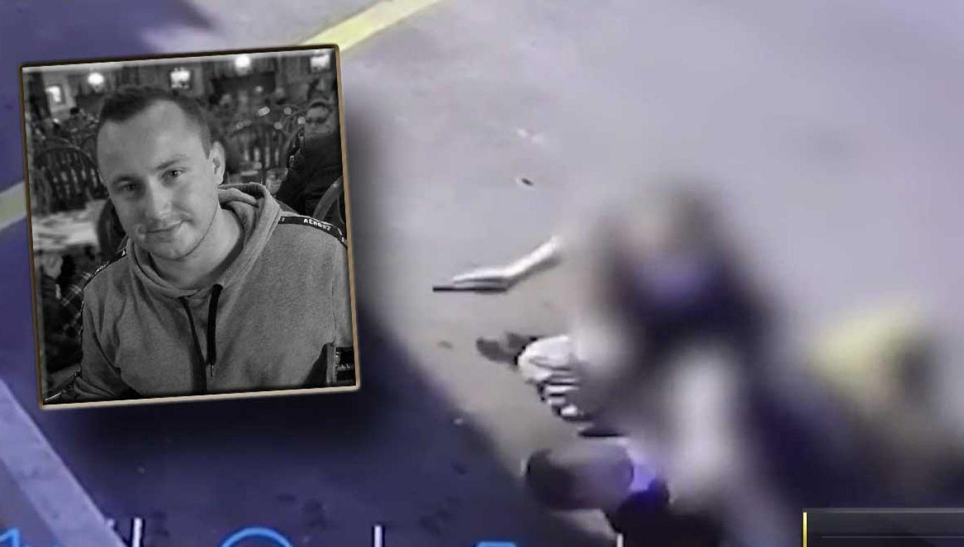 Policja wciąż szuka napastnika widocznego na nagraniu (fot. nbcchicago.com; FB/Jakub Marchewka)
