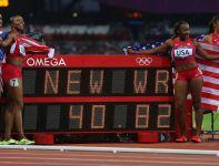 Sztafeta 4x100 metrów USA poprawiła 27-letni rekord świata wynikiem 40,82 (fot. Getty Images)