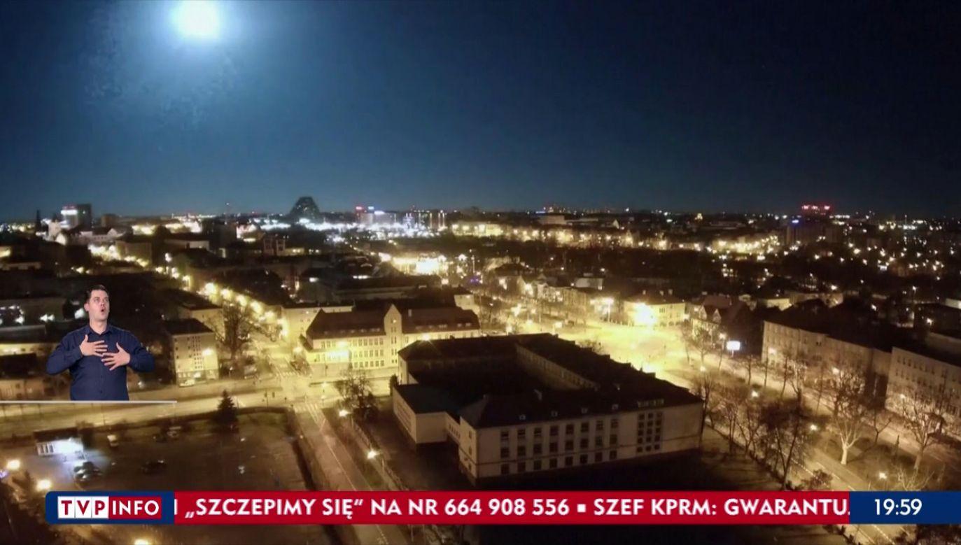 Zjawisko uchwyciła kamera (fot. TVP Info)