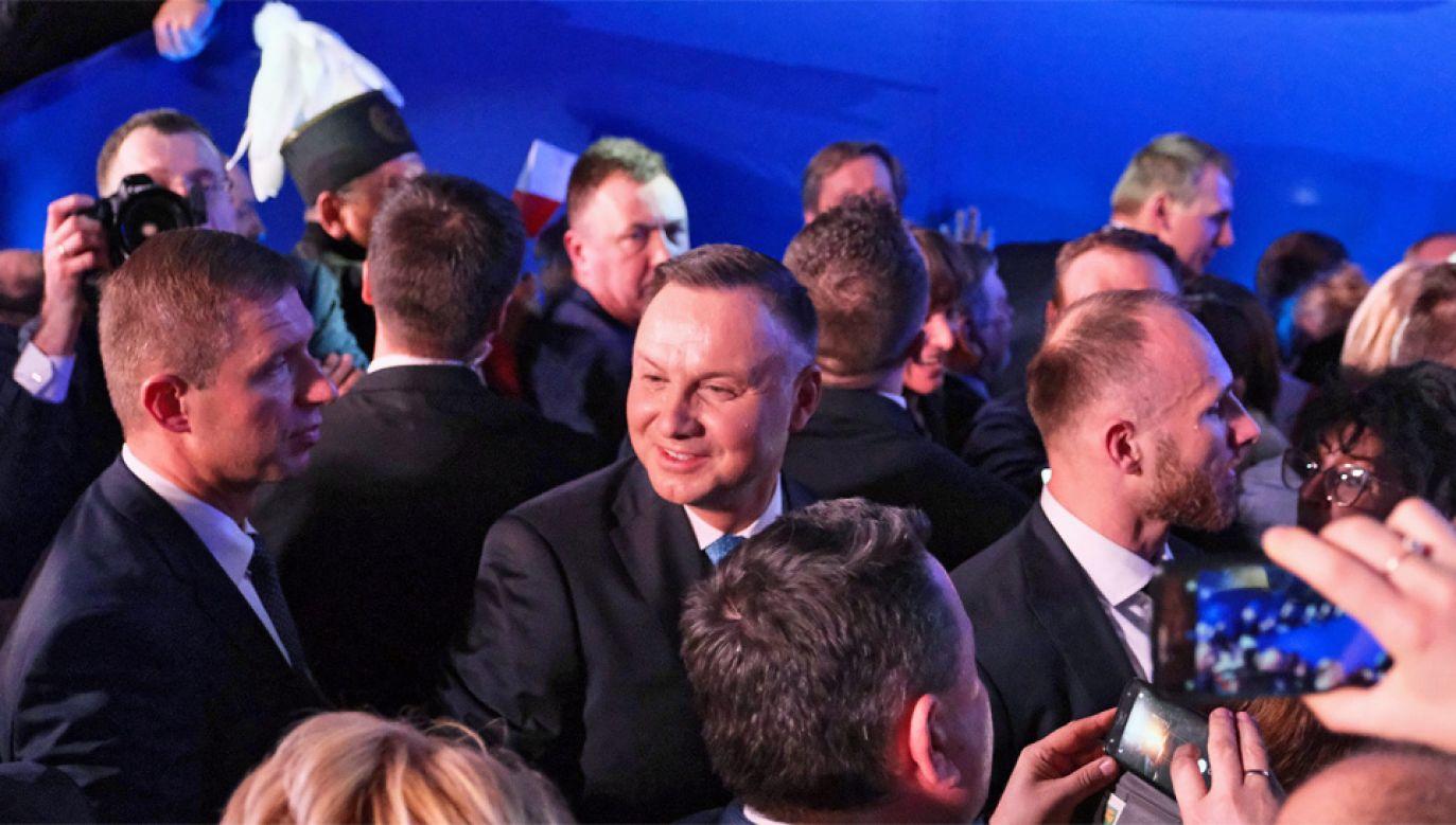 Prezydent Andrzej Duda walczy o reelekcję (fot. PAP/Mateusz Marek)