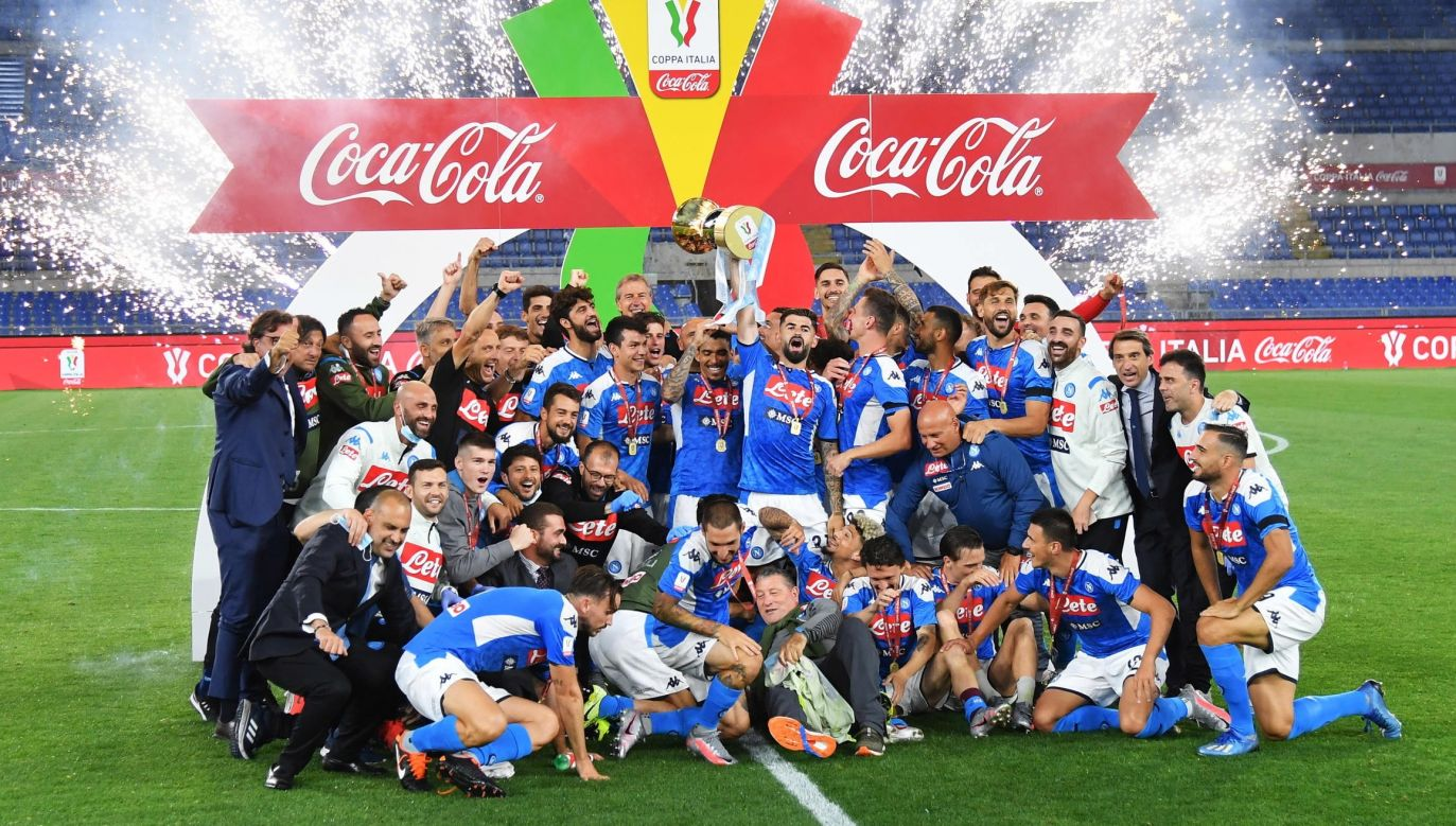 SSC Napoli players celebrating victory in Coppa Italia (Italian Cup) Photo: PAP/EPA/Ettore Ferrari