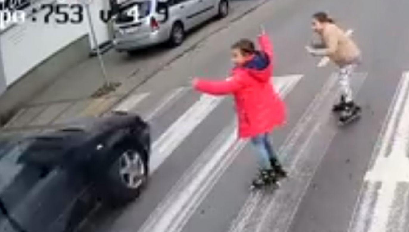 Wstrząsające nagranie opublikowała Komunikacja Miejska w Płocku (fot. FB/kmplock)