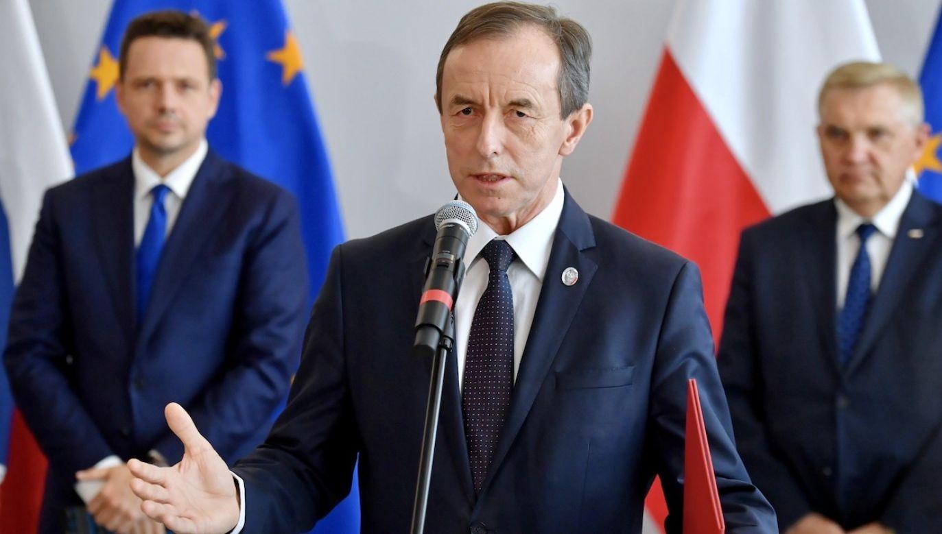 Na parlamentarnych korytarzach słychać, że marszałek Tomasz Grodzki może marzyć o tymczasowej prezydenturze (fot. PAP/Piotr Nowak)