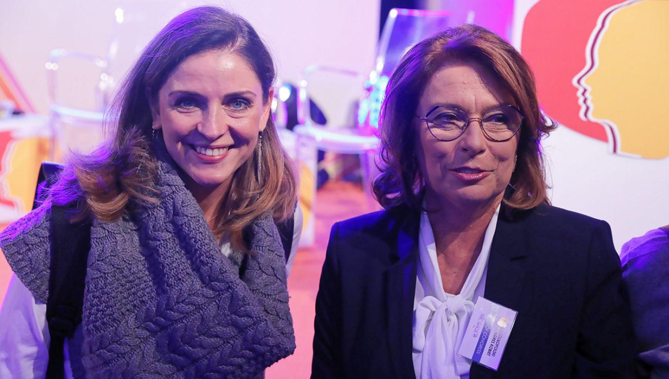 Joanna Mucha zgłosi się do startu w wyborach – potwierdziła Małgorzata Kidawa-Błońska (fot. arch. PAP/Tomasz Gzell)