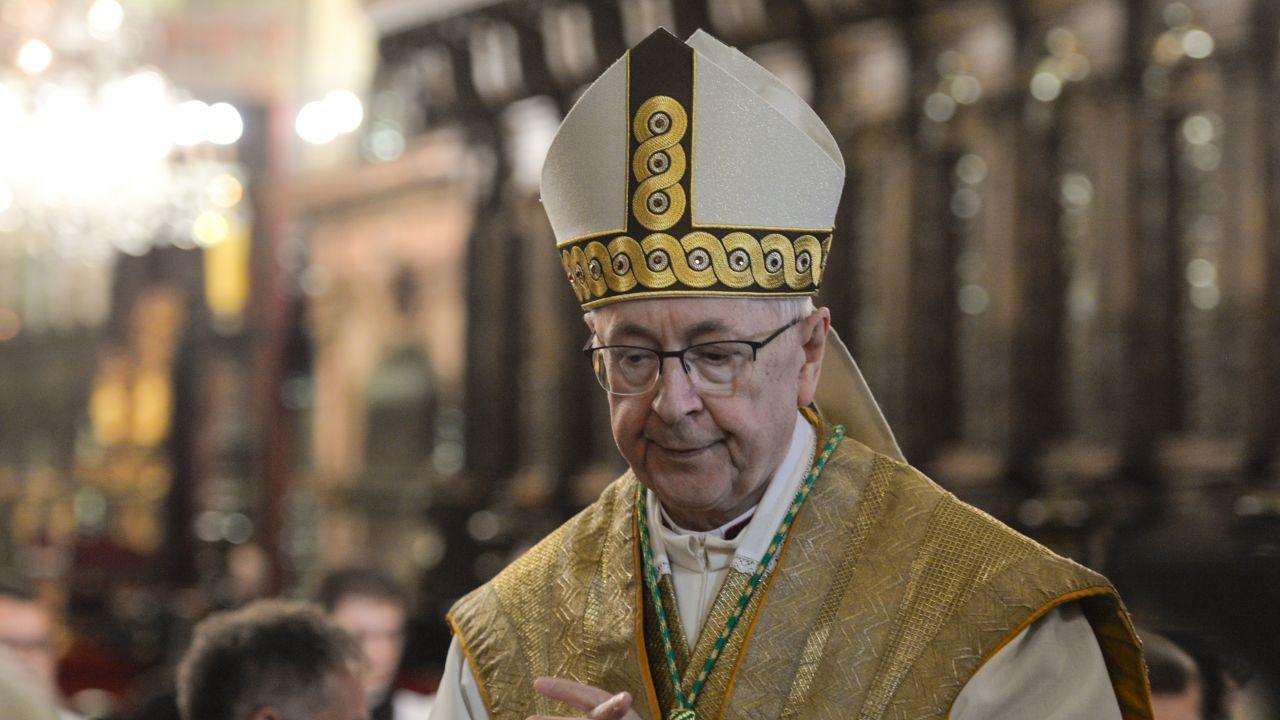 Stanisław Gądecki o aborcji (fot. Artur Widak/NurPhoto via Getty Images)