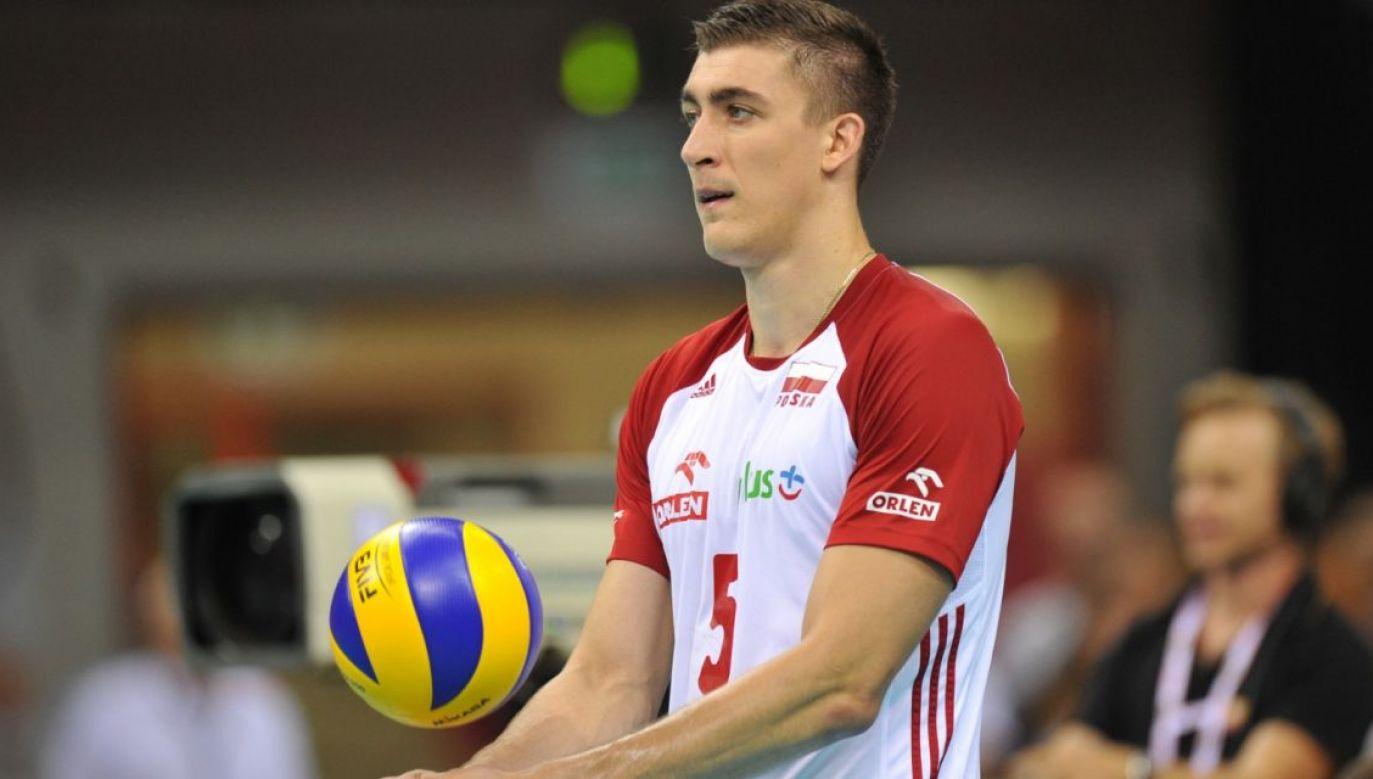 Łukasz Kaczmarek podczas meczu reprezentacji Polski (fot. Getty Images)