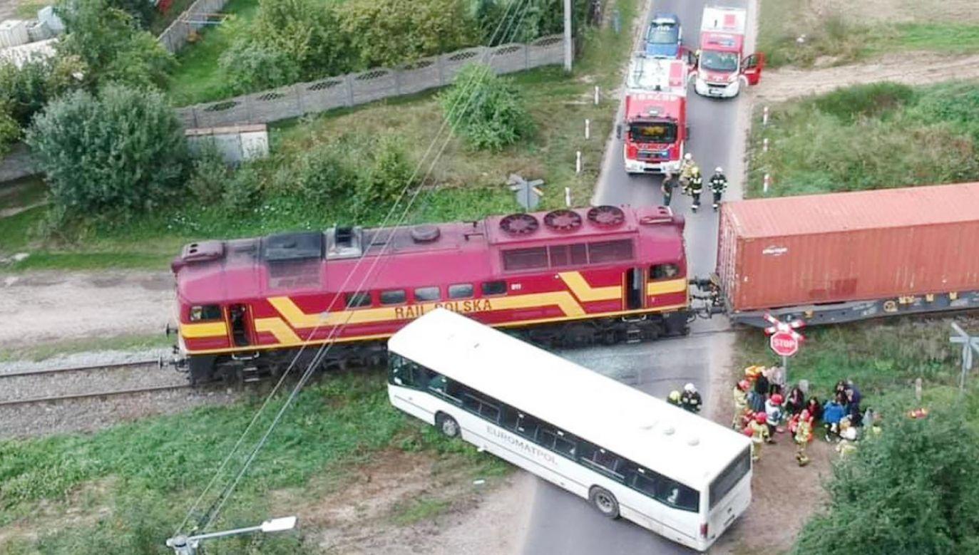 Do wypadku doszło w miejscowości Turkowy w województwie wielkopolskim (fot. Ochotnicza Straż Pożarna w Perzowie)