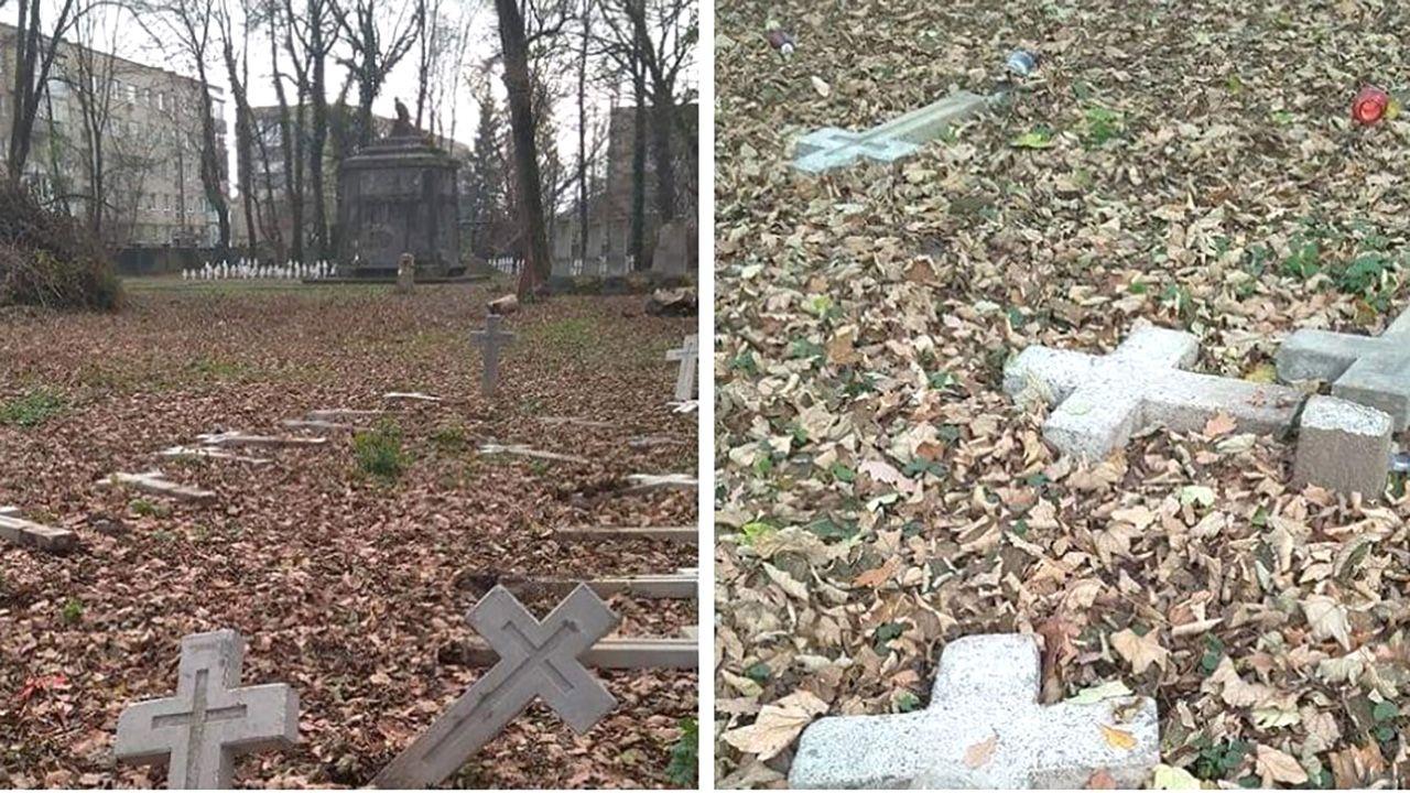 Zniszczona część cmentarza została odnowiona w związku ze 100-leciem niepodległości Polski (fot. TT/Komentator Niepoprawny Politycznie)