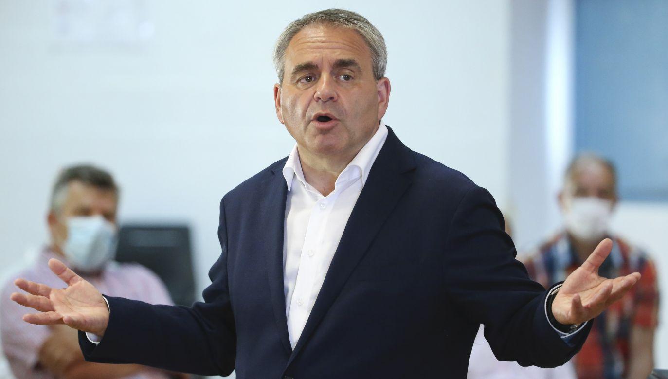 Xavier Bertrand z najwyższym sondażowym poparciem (fot. Jean Catuffe/Getty Images)