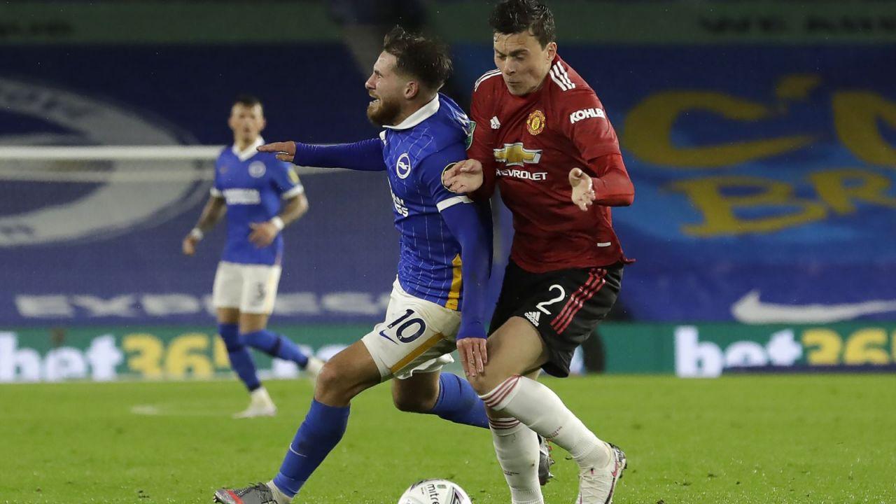 Carabao Cup. Brighton - Manchester United 0:3. West Ham United przegrał z Evertonem (sport.tvp.pl)