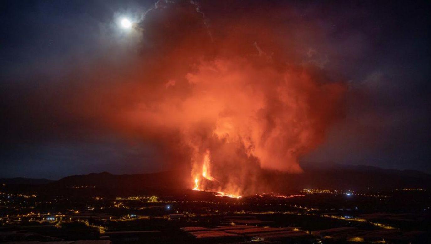 Wulkan Cumbre Vieja (fot. Kike Rincon/Europa Press via Getty Images)