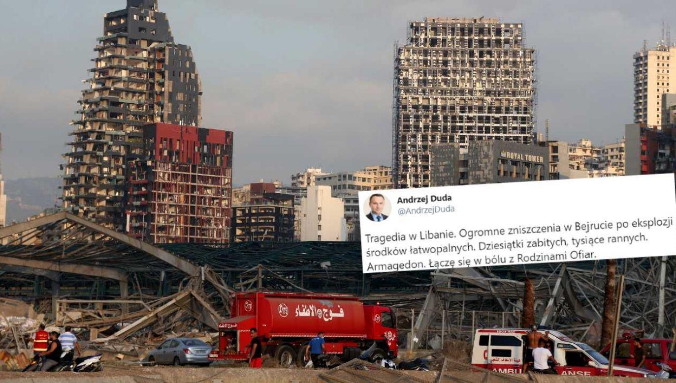W wyniku eksplozji zginęły dziesiątki osób (fot. PAP/EPA/IBRAHIM DIRANI/DAR AL MUSSAWIR)
