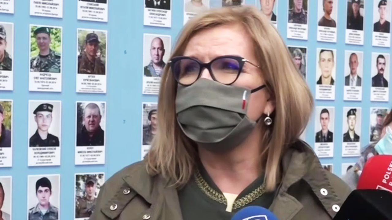 Małgorzata Gosiewska przebywa na Ukrainie (fot. TVP Info)