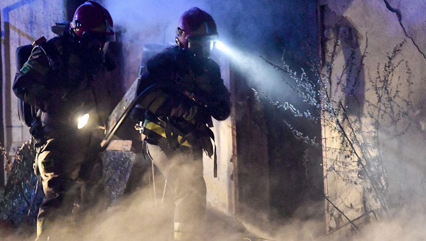 Na razie nie wiadomo, co było przyczyną pożaru (fot. PAP/Marcin Bielecki, zdjęcie ilustracyjne)