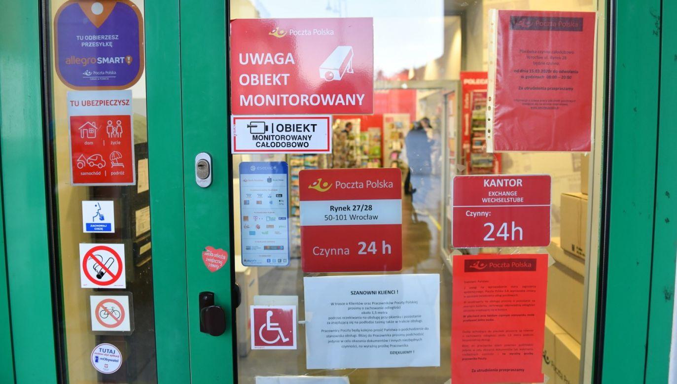 Całodobowy urząd pocztowy we Wrocławiu (fot. PAP/Maciej Kulczyński, zdjęcie ilustracyjne)