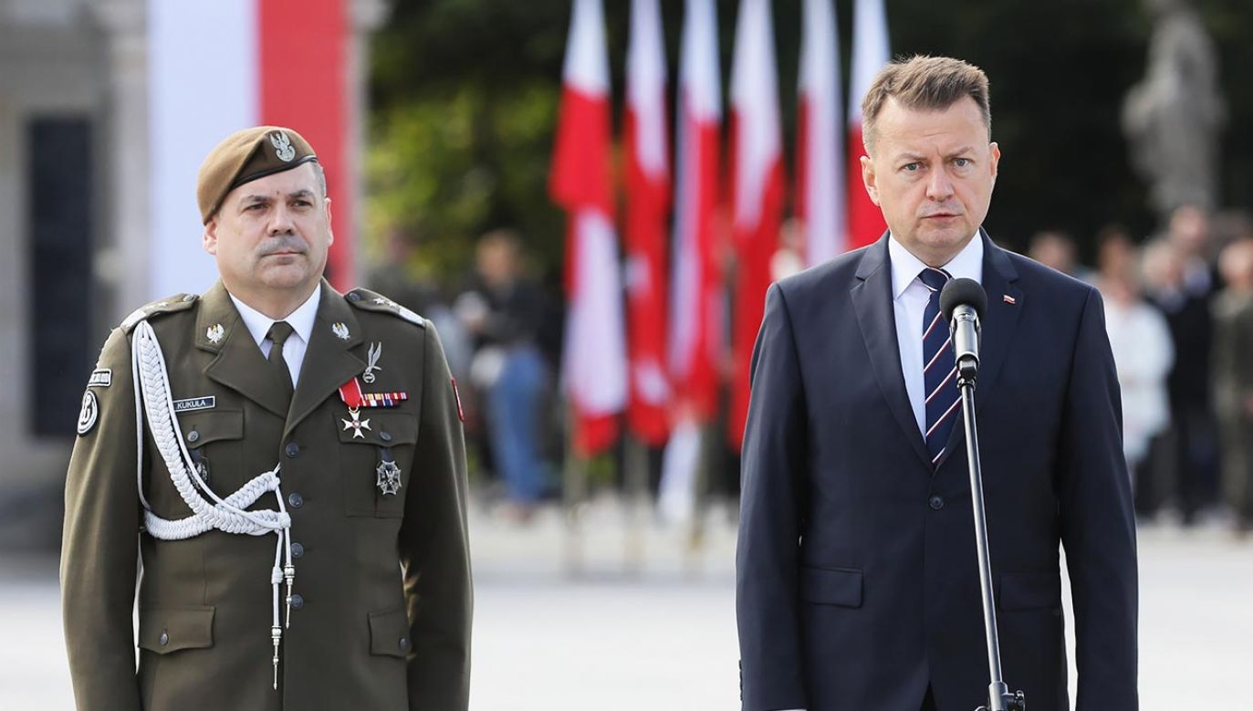 Szef MON przypomniał, że formacja liczy już 30 tys. żołnierzy (fot. PAP/Paweł Supernak)