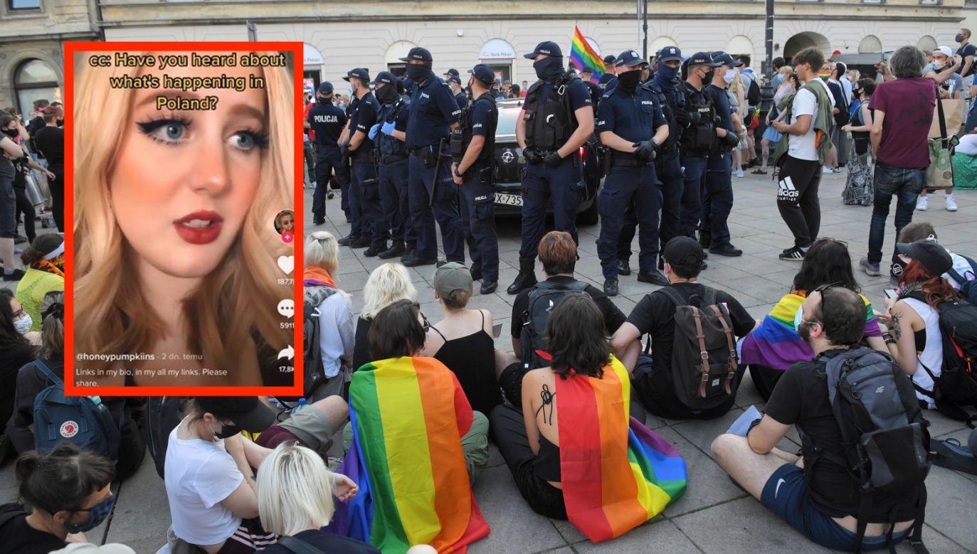 Protest środowisk LGBT w Warszawie (fot. PAP/Radek Pietruszka)