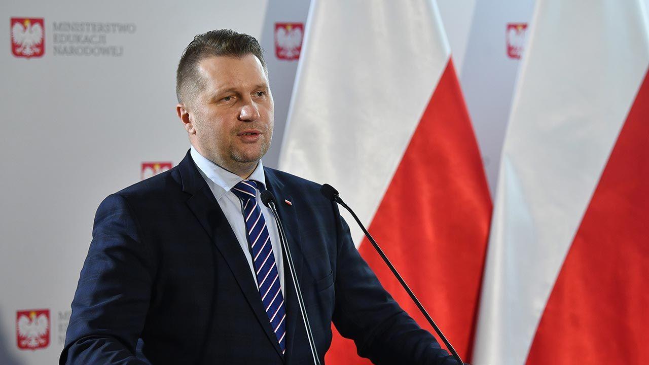 Minister Czarnek podkreślił, że wolność nauki powinna dotyczyć wszystkich (fot. PAP/Radek Pietruszka)