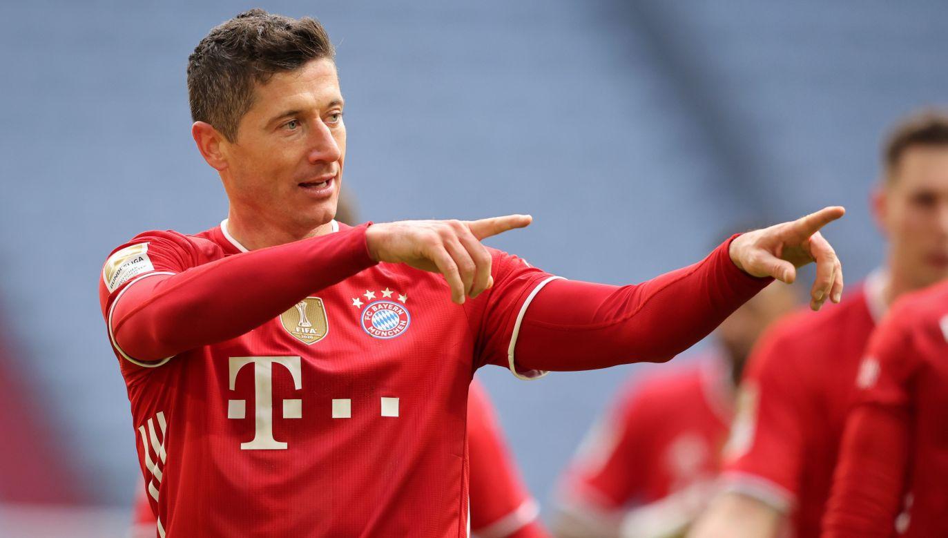 Robert Lewandowski wciąż ma szansęna pobicie rekordu Gerda Muellera (fot. Stefan Matzke - sampics/Corbis via Getty Images)