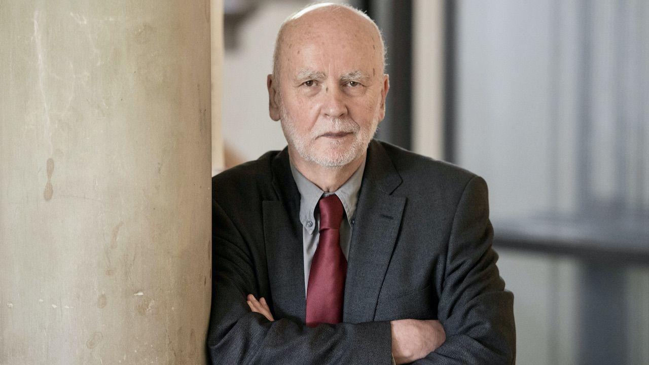 Adam Zagajewski (fot. PAP/EPA/M.MURAT)