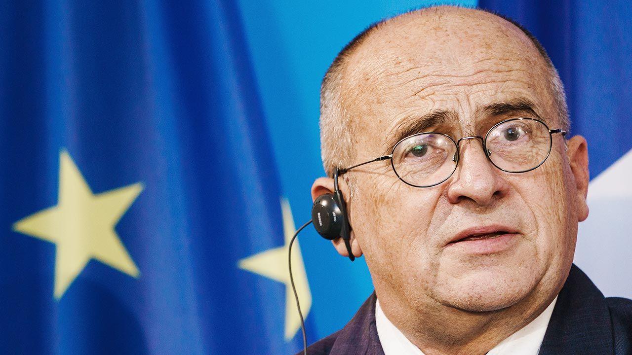 Minister spraw zagranicznych Zbigniew Rau (fot. PAP/EPA/CLEMENS BILAN / POOL)