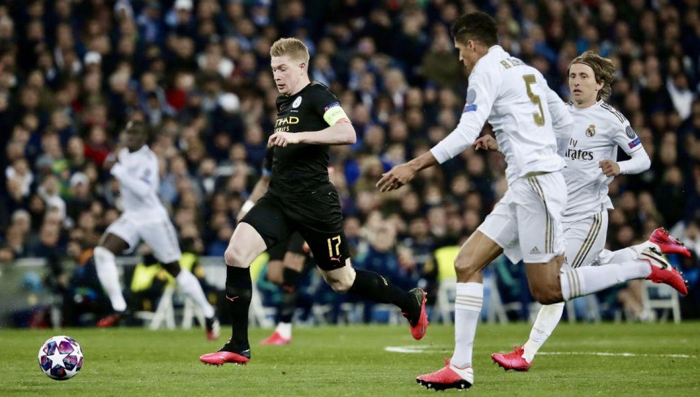 W pierwszym spotkaniu Manchester City wygrał w Madrycie z Realem 2:1 (fot. Burak Akbulut/Anadolu Agency via Getty Images)