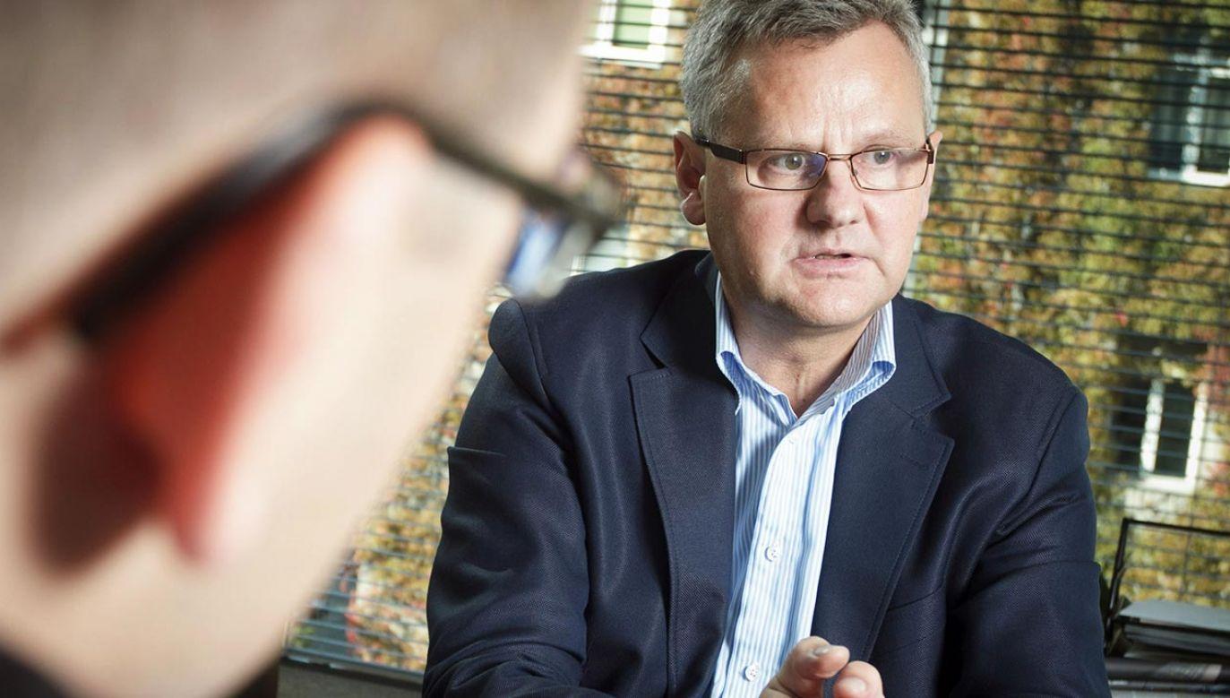 Agnieszce Pomasce wypomniano niewygodny przypadek Aleksandra Grada (fot. PAP/Paweł Pawłowski)