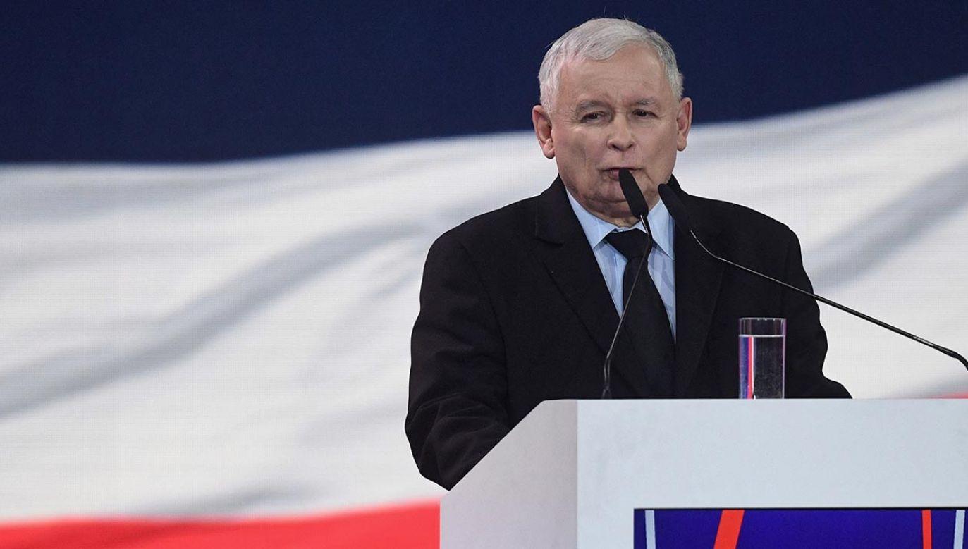 Lider PiS Jarosław Kaczyński (fot. PAP/Radek Pietruszka)