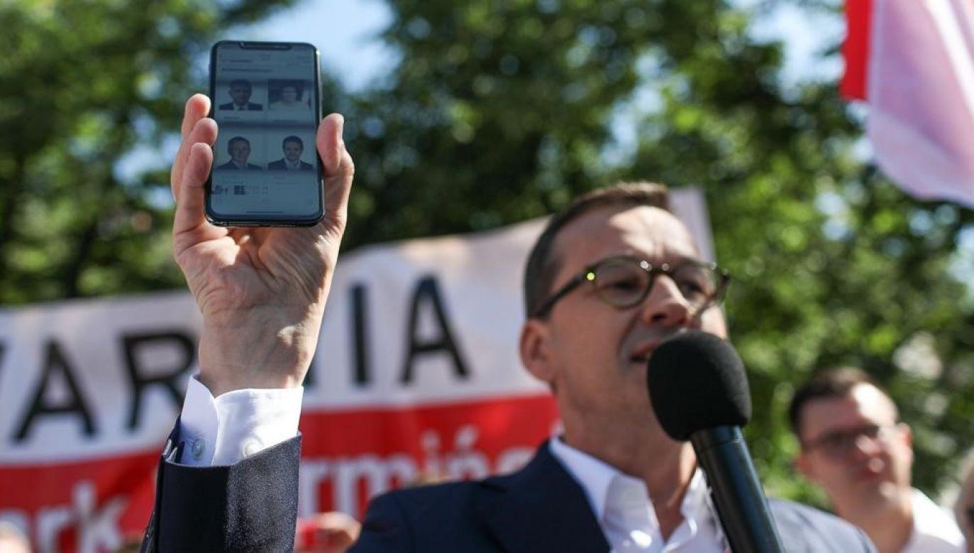Premier Mateusz Morawiecki (fot. twitter.com/MorawieckiM)