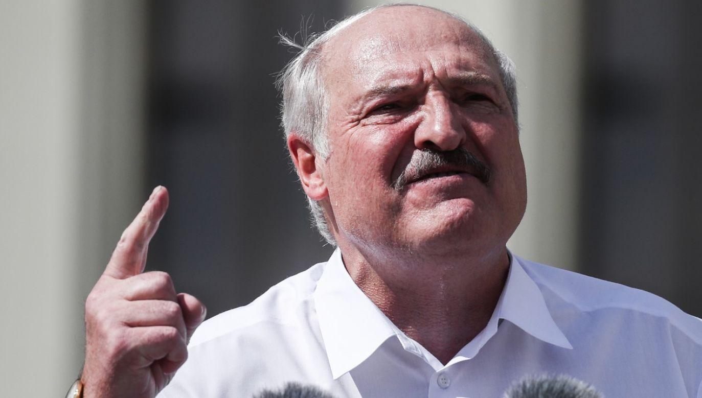 Alaksandr Łukaszenka umniejsza międzynarodową pomoc (fot. Valery Sharifulin\TASS via Getty Images)
