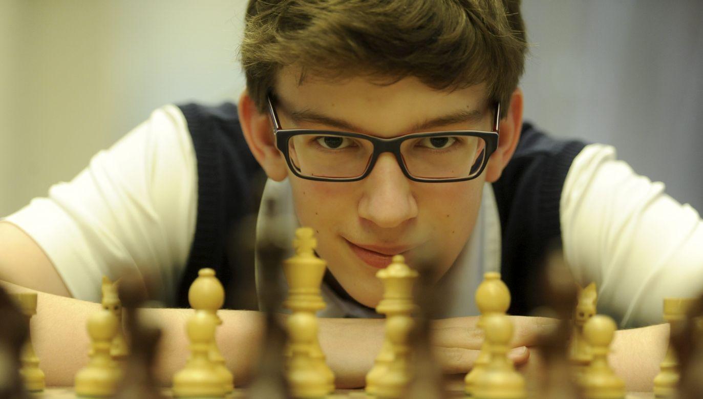 Duda od początku czuł się pewnie, dobrze wyszedł z debiutu i kontrolował sytuację na szachownicy (fot. arch.PAP/Bartłomiej Zborowski)