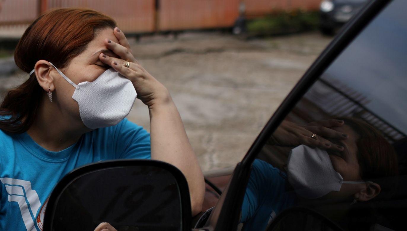 Ponad 400 tys. przypadków odnotowano w Brazylii (fot. Reuters/ Bruno Kelly)