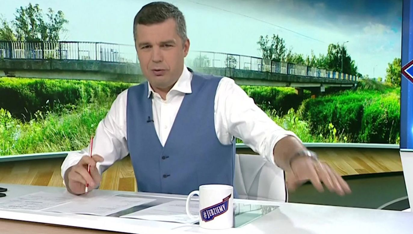 Dziennikarz Michał Rachoń (fot. TVP Info)