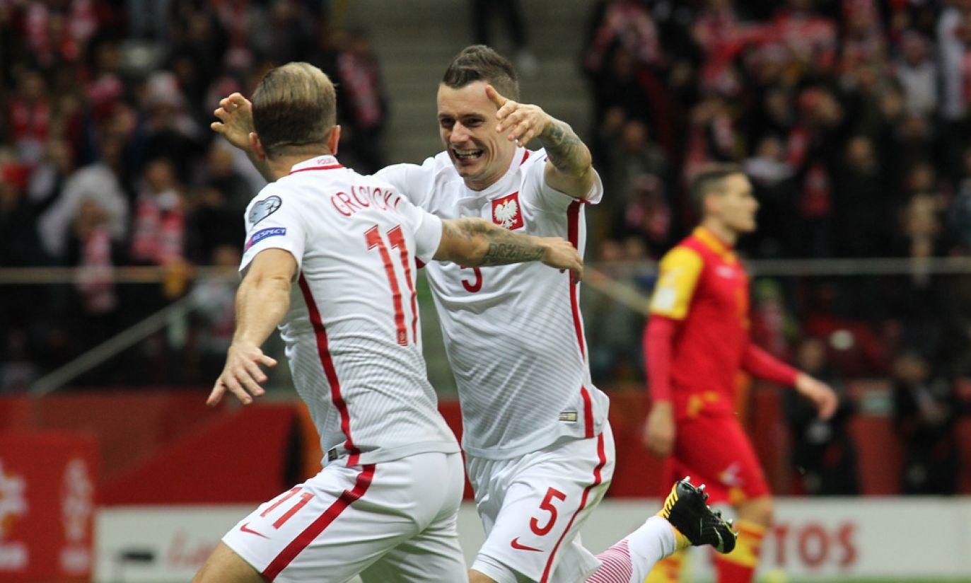 Kamil Grosicki i Krzysztof Mączyński (fot. Cezary Korycki)