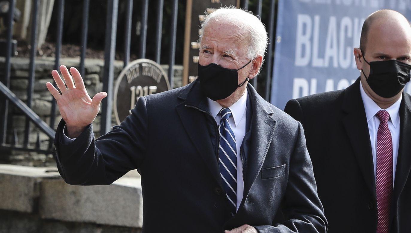 Prezydent USA Joe Biden (fot. PAP/EPA/Oliver Contreras)