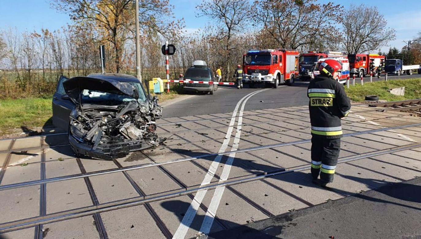 Do zdarzenia doszło na trasie kolejowej z Wrocławia do Opola (fot. Pomoc Drogowa KRYNDA Brzeg)