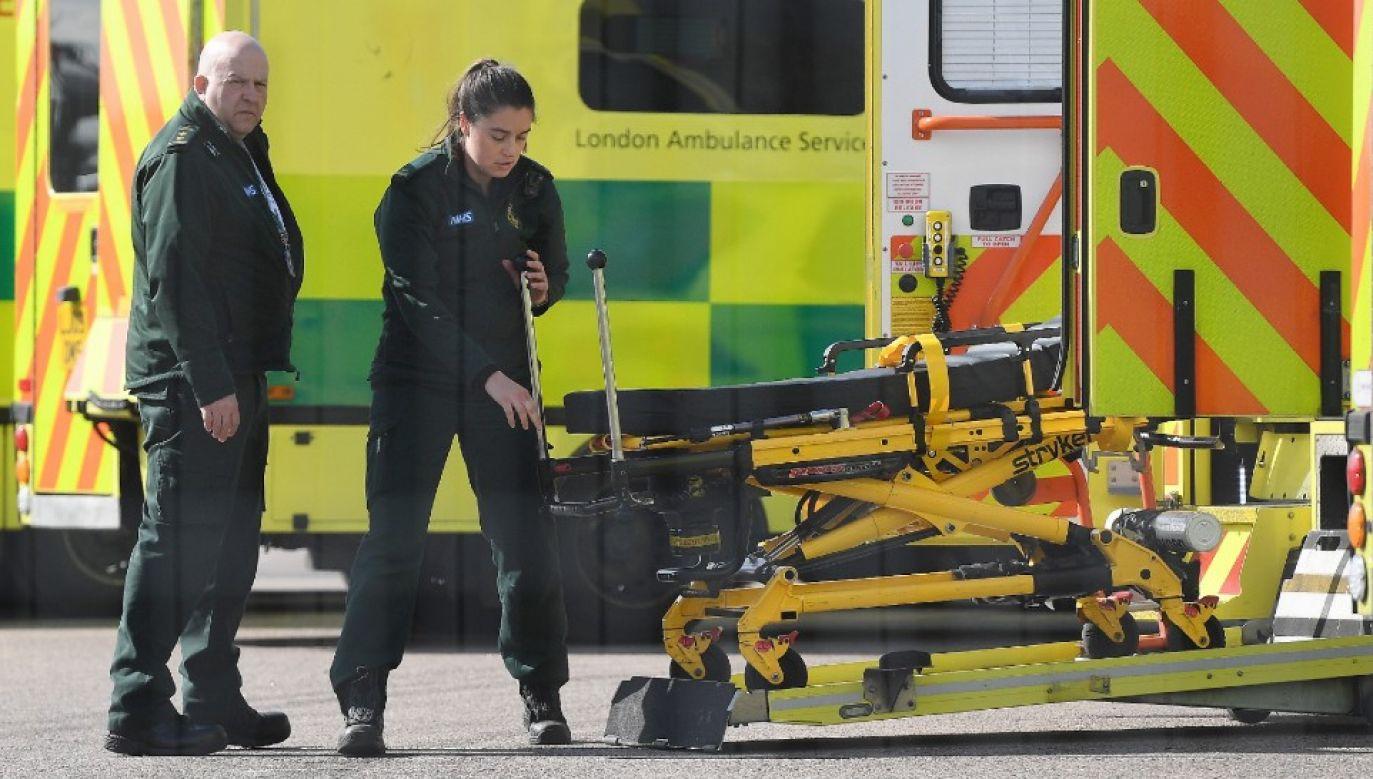 Wielka Brytania zmaga się z epidemią (fot. PAP/EPA/ANDY RAIN)