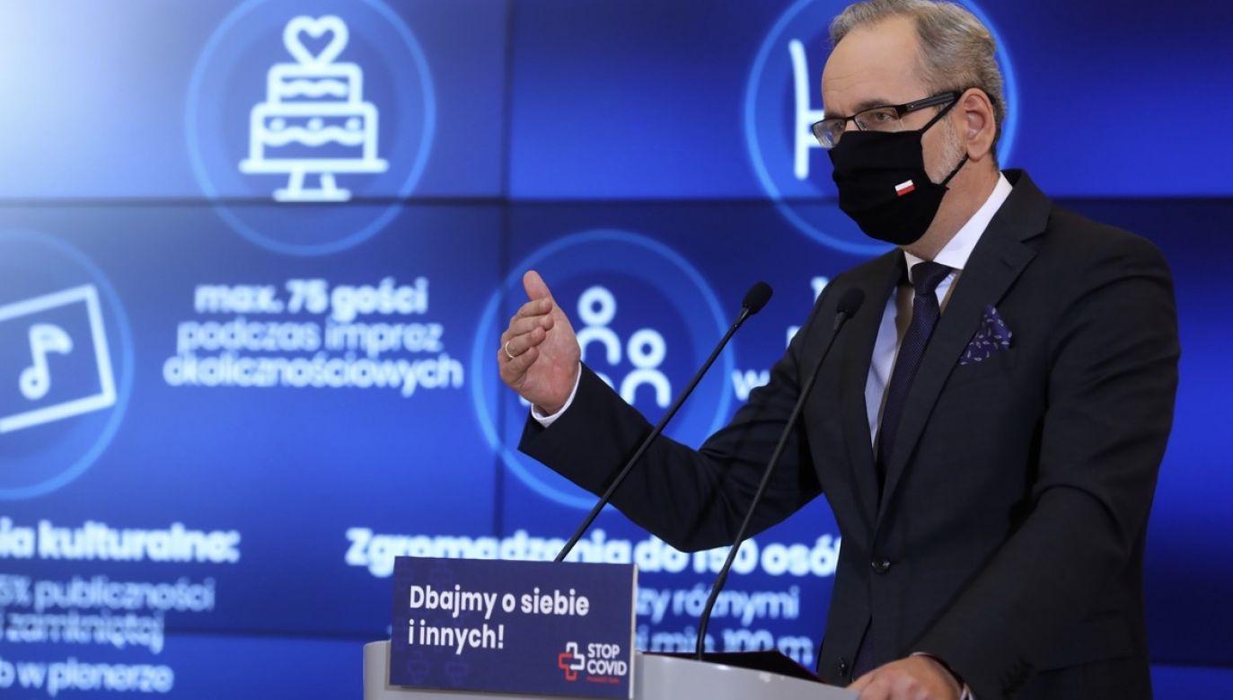 Minister zdrowia zaznaczył, że tworzenie szpitali tymczasowych nie są jedynymi działaniami mającymi na celu zwiększenie dostępności łóżek (fot. PAP/Rafał Guz)